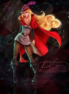 Disney princess Aurora as Prince Phillip!