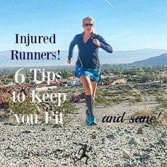 Are you an injured runner? It can be frustrating! Here are six tips that will help you stay fit (and sane!) while you recover.