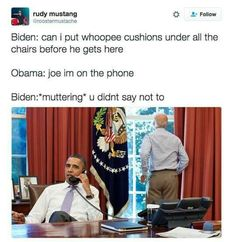 Hilarious Memes Of Joe Biden Plotting White House Pranks Are Internet Gold - 20 Pics Joe And Obama, Obama And Biden, Joe Biden, Michelle Obama, House Pranks, We Are Bears, Ft Tumblr, Funny Quotes, Funny Memes
