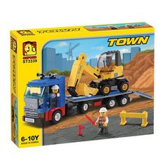 Oxford Lego Style Block Toy ST3339- Town Series Trailer