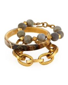 ASHLEY PITTMAN Three-Piece Bangle/Bracelet Set. #ashleypittman #