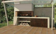 Barbacoa a Medida Amina Design Barbecue, Parrilla Exterior, Modern Outdoor Kitchen, Outdoor Barbeque, Rooftop Design, Modern Villa Design, Bbq Kitchen, Design Jardin, Rooftop Patio