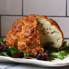 Spicy Whole Roasted Cauliflower | #glutenfree #grainfree #vegetarian