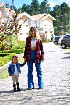 Segura o Picumã por Mica Kodama | Look do dia: Uma camisa xadrez, dois jeitos de usar | http://www.seguraopicuma.com.br