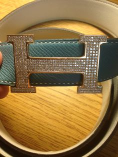 luxury Herms Belt 18k gold with diamonds - Colette Le Mason @}-,-;--