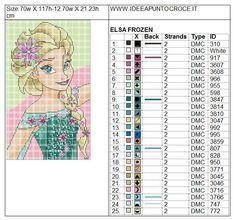 Les p'tites croix d'Anaide - Page 4 Frozen Cross Stitch, Cross Stitch For Kids, Cross Stitch Baby, Cross Stitch Charts, Just Cross Stitch, Patchwork Disney, Disney Quilt, Disney Cross Stitch Patterns, Cross Stitch Designs