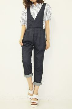 The Virgnia  デニムサロペット / denim overall on ShopStyle