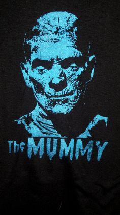 83dd993c708a Boris Karloff Mummy bust tee shirt