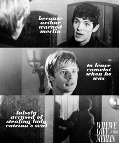 Proving that he actually did care about Merlin's safety and trusts him enough to know that he didn't do it.