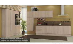Cozinha Modulada Completa Unique com 14 Módulos Carvalle - Kappesberg | Lojas KD