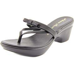 Athena Alexander Women's Leon Wedge Sandal, Black, 9 M US. Sandal.