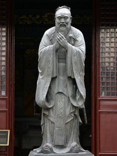 size: Photographic Print: Statue of Confucius in the Shanghai Confucius Temple, Shanghai, China, Asia by Godong : Subjects Rebuilding The Temple, Chinese Philosophy, Small Sword, Great Thinkers, Ancient Buildings, Dragon Pattern, In Ancient Times, Fishing Villages, Stone Carving