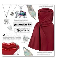 """""""Graduation Day Dress"""" by dolly-valkyrie ❤ liked on Polyvore featuring Oscar de la Renta, Gianvito Rossi, NOVICA, Trilogy and graduationdaydress"""
