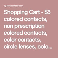 shopping cart 5 colored contacts non prescription colored contacts color contacts circle