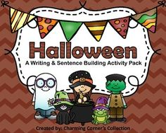 Halloween Writing and Sentence Building Activity Pack is a fun way for your students to enjoy their holiday and build their writing and sentence building skills.  This pack includes:* Directions for each activity * Color and black and white masters* 3 pictures for students to make inferences* 3 pictures for students to color* 2 inferencing worksheets* Writing papers* 4 Sentence unscrambles & writing paper* 8 puppet pages and writing paper Thank you for viewing this product!