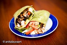 I tried a few variations of chicken wraps, using chicken that I cooked up in a frying pan with onions, garlic, ginger, salt & pepper. My Recipes, Soup Recipes, Greek Chicken, Chicken Wraps, Soups, Salads, Sandwiches, Tacos, Stuffed Peppers