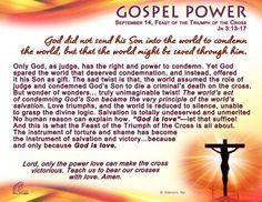 Gospel Power - Feast of the Triumph of the Cross