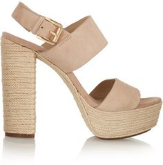 Michael Kors Suede and raffia sandals