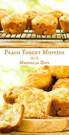 Peach Yogurt Muffins for #BreadBakers