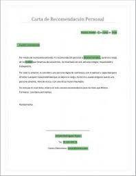 Trabajo Personal Trabajo Formato De Carta De Recomendacion Carta De Recomendacion De Un Familiar Para Nino De Inicial