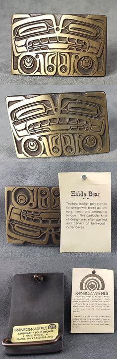 Belt Buckles 86647: Bronze Bear Belt Buckle Haida Northwest Art Indian -> BUY IT NOW ONLY: $45 on eBay!