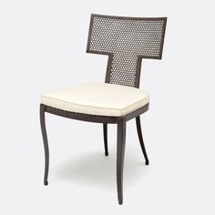 Outdoor Hadley Metal Mesh Side Chair Finishes Available: Black, Silver or Gold