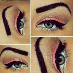 #pink #eyeliner #eyes #lips #makeup #eyebrow #beauty