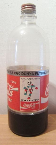 Coca Cola bottle TURKEY COKE BOTTLE 1990 ITALY WORLD CUP MUNDIAL 1 LITRE PLASTIC | eBay