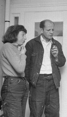 Lee Krasner with Husband Jackson Pollock.