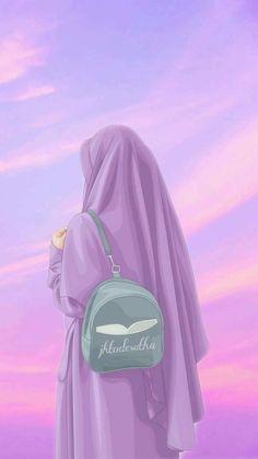 Cartoon Girl Images, Cute Cartoon Girl, Cartoon Art Styles, Anime Girl Drawings, Girly Drawings, Anime Art Girl, Muslim Pictures, Mode Turban, Islamic Cartoon