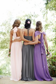 Rent this convertible bridesmaid dress on vowtobechic.com. The Aidan is a convertible bridesmaid dress by Jenny Yoo.  Available in petal pink, wisteria, aubergine (dark purple), champagne, black, charcoal, navy, capri (light blue), & claret (red).