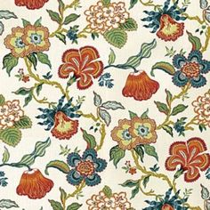 Fabric Patterns F. Schumacher Hothouse Flowers-Spark 174031 Interior Decor Fabric - F. Schumacher Hothouse Flowers Spark 174031 by Celerie Kemble Upholstery Fabric Drapery Fabric, Fabric Decor, Fabric Crafts, Fabric Design, Curtains, Chair Fabric, Textile Design, Pattern Design, Print Design