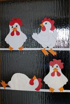 Tinker for Easter - Le monde des enfants - Osterbasteln - Projets Diy Paper Punch Art, Punch Art Cards, Easter Crafts, Crafts For Kids, Chicken Quilt, Chicken Crafts, Art Carte, Barn Wood Crafts, Chickens And Roosters