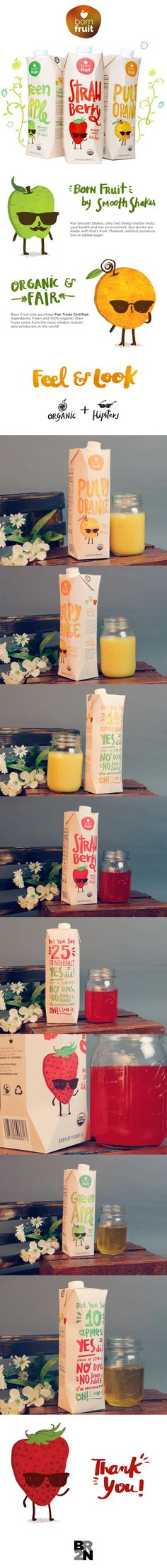 Born Fruit Juices - Packaging Design