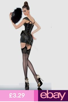 d973bc32fd8 Open back with front lace up crotchless bodystocking 1612-Black ...