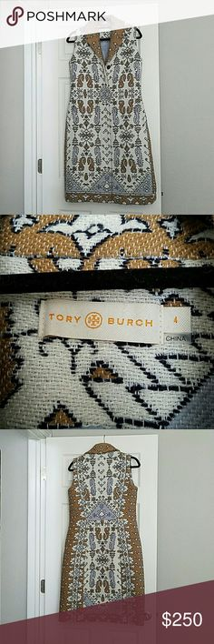 Tory Burch Long Jacquard Vest Gorgeous long Tory Burch vest with beautiful colors and pattern.  Great piece to make a statement.  Purchased at Tory Burch boutique. Last picture is stock photo. Tory Burch Jackets & Coats Vests