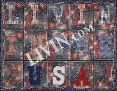 """LIVIN In The USA"". LIVIN® mixed media artwork. Available in gallery quality (high-resolution) prints and canvas wraps."