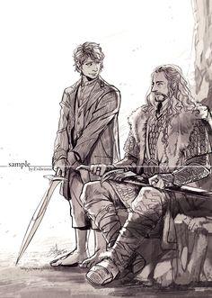 Hobbit by evilwinnie.deviantart.com on @deviantART - Bilbo and Thorin