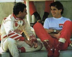 Michele Alboreto and Ayrton Senna