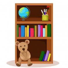 Ilustrador de librero y libro. Vector Pr... | Premium Vector #Freepik #vector #fondo #escuela #cubrir #libro Vector Freepik, Kindergarten, Bookcase, Classroom, Shelves, Gifts, Home Decor, Moldings, Modern Library