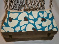 Pansy Maiden Vegan Messenger Purse Waxed Canvas Backpack Handbag Shoulder Tan