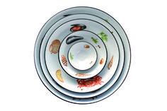 Coppe Passepartout, decoro Crostacei:contenitori in porcellana perfetti per le cene d'#estate  www.ancap.it