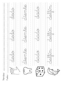 Teaching Cursive Writing, Cursive Handwriting Practice, Cursive Alphabet, Handwriting Worksheets, Tracing Worksheets, Pre Writing, Kindergarten Worksheets, Word Family Activities, Educational Activities For Kids