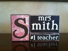 Personalized Wood Teacher Name Block  Perfect by WoodnExpressions, $18.00