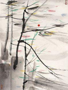 Wu Guanzhong's Sunrise | Chinese Painting | China Online Museum