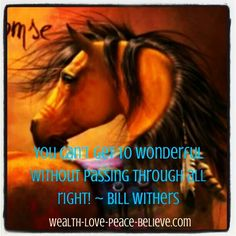 You can't get to wonderful without passing through all right! www.for-the-love-of-horses.com #horses #wonderful #betterthanallright