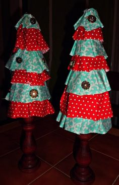 Ruffle Christmas Tree Tutorial