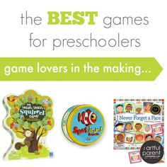 Best Games for Preschoolers -- Game Lovers in the Making