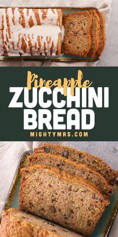Jello Dessert Recipes, Sweets Recipes, Baking Recipes, Desserts, Healthy Bread Recipes, Zucchini Bread Recipes, Healthy Zucchini Bread, Zucchini Pineapple Bread, Easy Casserole Recipes