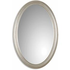 Update your home decor with this elegant oval wall mirror. This mirror features a metal frame finished in antique silver leaf